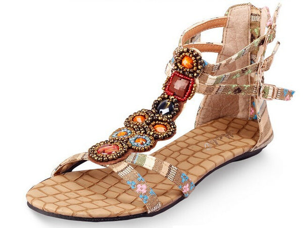 Bohemia Nation Flat Beaded Sandals