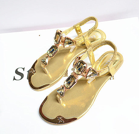 Colorful Rhinestone Sandals