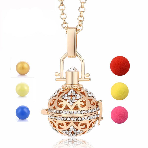 Angel Bola Perfume Aromatherapy Pendant Necklace