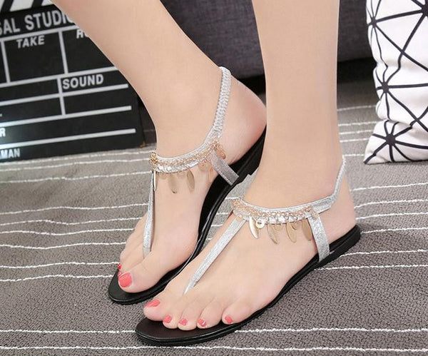 Bling Chain Sequins Sandals