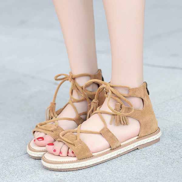 Elegant Cross-tied Sandal