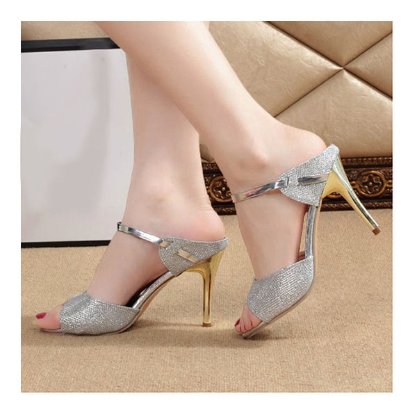 Ankle-Wrap High Heels Sandals