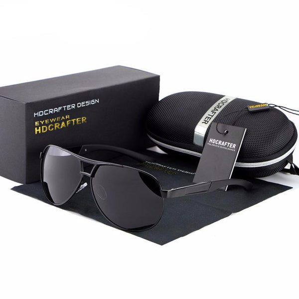 UV400 men's aviator glasses for driving