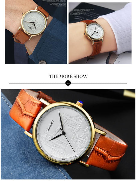 Casual Leather Band Watch