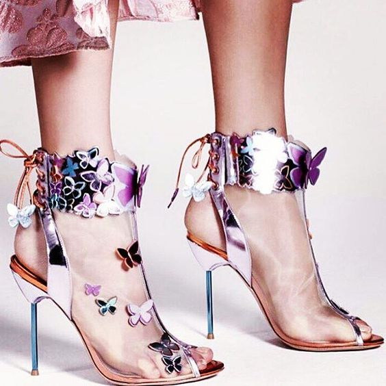 Colorful Butterfly High Heel