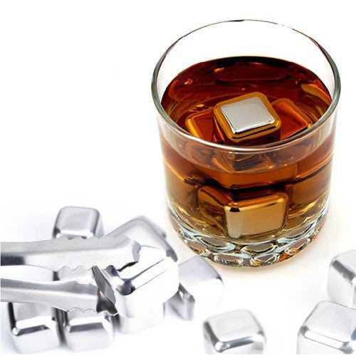 10 pcs/lot Stainless Steel Stones Ice Cubes