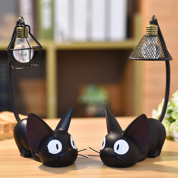Cute Black Cat Night Light