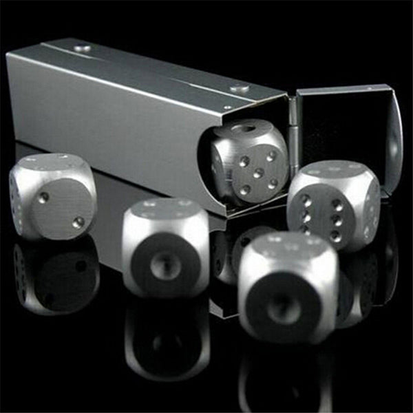 5pcs/lot dice set Cooler Stainless Steel Ice Cube