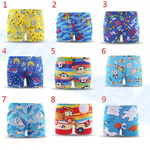 2-6 Years Adjustable Cartoon Children Swimming Trunks