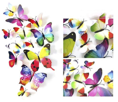 3D Butterfly Wall Stickers 12pcs