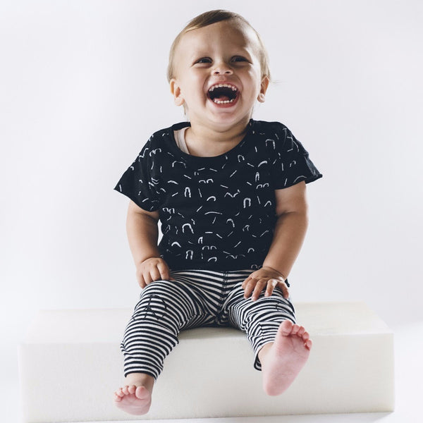 boys funky print tee - 5 going on 10