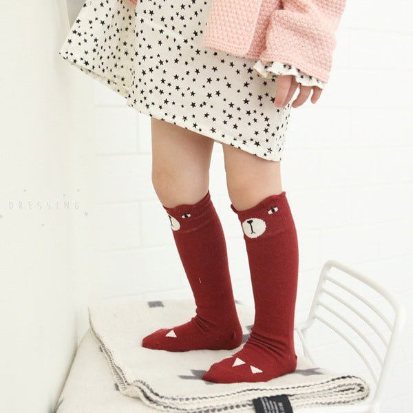 Red Bear Knee Socks 1-6Y