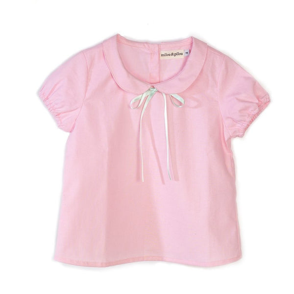 Milou & Pilou pink shirt - 5 going on 10