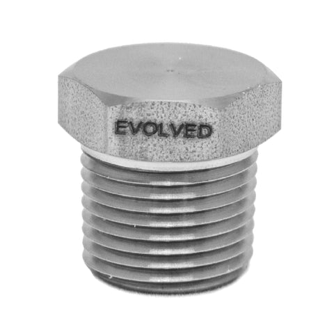 "3/8"" MNPT Hex Plug - extraction equipment canada, extraction equipment - Evolved Extraction Solutions"