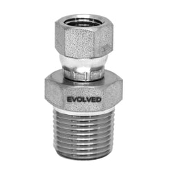 "Fitting - 3/8"" MNPT * 3/8"" Female JIC Swivel - extraction equipment canada, extraction equipment - Evolved Extraction Solutions"