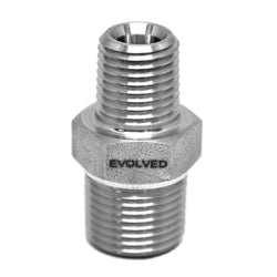 "Reducing Hex Nipple 3/8"" MNPT * 1/4"" MNPT - Extraction Equipment Canada - Evolved Extraction Solutions"