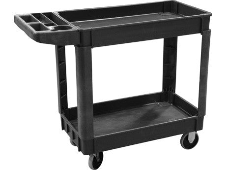 Heavy Duty 2-Shelf Plastic Service Cart - extraction equipment canada, extraction equipment - Evolved Extraction Solutions