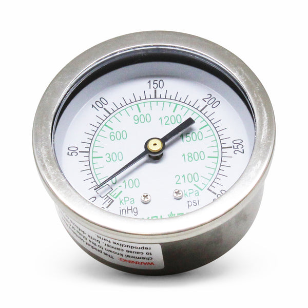 EVOLVED Cold Temperature Pressure Gauge -30Hg. to 300 psi - extraction equipment canada, extraction equipment - Evolved Extraction Solutions