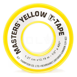 Yellow Gas Rated Teflon Tape