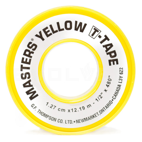 Yellow Gas Rated Teflon Tape - extraction equipment canada, extraction equipment - Evolved Extraction Solutions