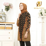 Anjani Covered Button Long Sleeve Tunic