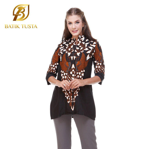 Short Sleeve Blouse - Astina Short Sleeve Basic Tunic