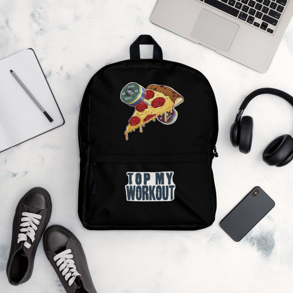 Designer Series - Barbells Love Pizza Backpack