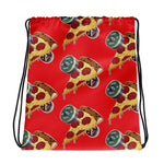 Designer Series - Barbells Love Pizza Drawstring Bag