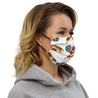 Designer Series - Barbells Love Pizza Facemask