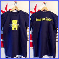 SOLD OUT! Gummy Bears Save Lives yellow gummy/blue unisex tee