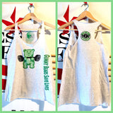 SOLD OUT! Gummy Bears Save Lives green gummy/white racerback tank