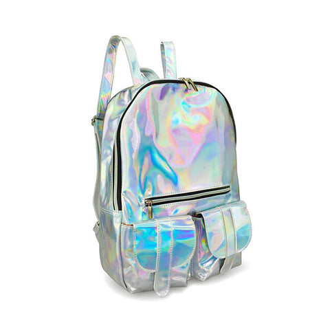 Adventure Kid Dub Pocketed Holographic Backpack