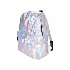 Adventure Kid Leather Holographic Backpack
