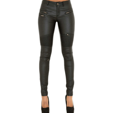 Leather Moto Leggings