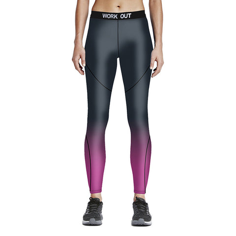 Rose Red Ombre Sport Leggings