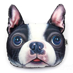 3D Boston Terrier Plush Pillow