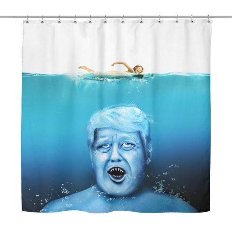 Trump Shark Shower Curtain