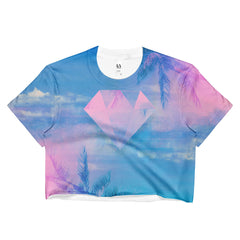 MIami Diamond Crop T