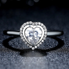 Silver Queen of Hearts Ring