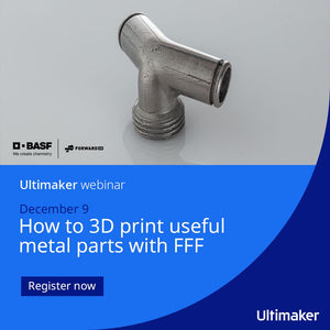 Webinar: How to 3D print useful metal parts  with FFF