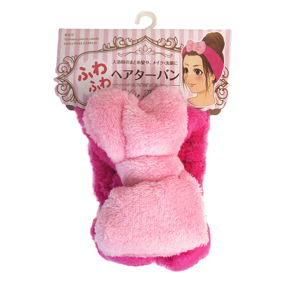 Cute Bow Bath Headband Pink