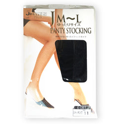 Yuttari Comfortable Nylon Pantyhose Stocking Black M - L (Hip: 95 -113cm)