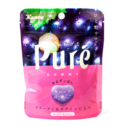 Kanro Pure Gummy Grape Flavor 1.97 oz