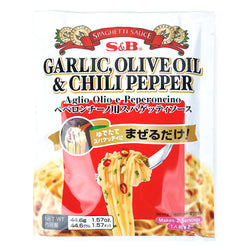 S&B Peperoncino Garlic, Olive Oil & Chill Pepper Spaghetti Sauce 2 Servings 1.57 oz