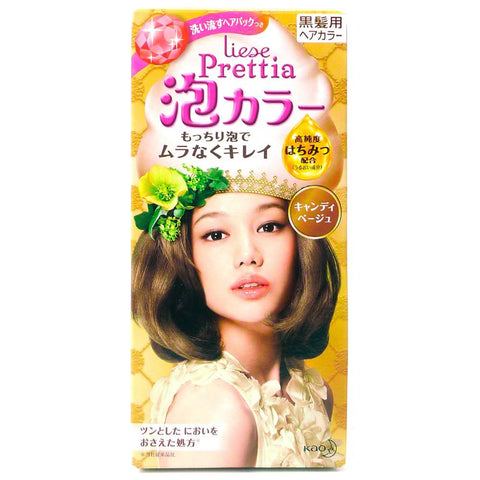 Kao Prettia Bubble Hair Color Candy Biege