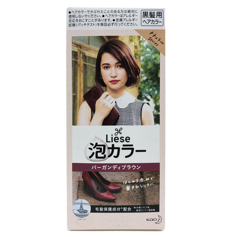 Kao Liese Prettia Bubble Hair Color Burgundy Brown