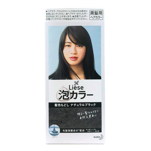 Kao Liese Bubble Hair Color Colored Return Natural Black