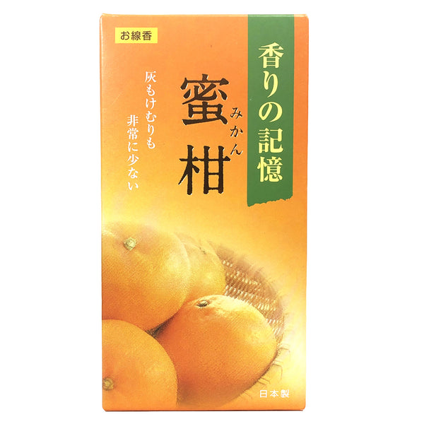 Memory Of Fragrance Mikan Mandarin Orange Incense Sticks 100g