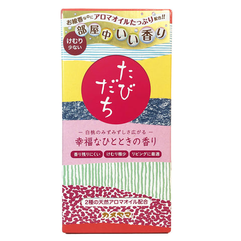 Tabidachi Happiness Moment White Peach Aroma Inscense Sticks 90g