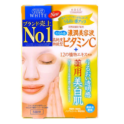 Kose Clear Turn Vitamin C Whitening Facial Mask 5pcs